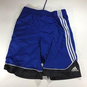 Adidas athletic 3 striped blue size large shorts